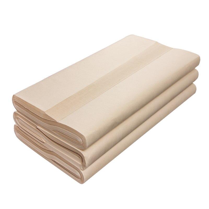 100 листов, бумага Xuan, бумага для китайской каллиграфии, рисовая бумага Суми, утолщенная полунеобработанная бумага Xuan