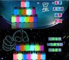 13 couleurs 5 bouteille/lot lumineux lueur poudre néon lumineux gel visage peinture à base deau liquide super lumineux acrylique luminesc peinture