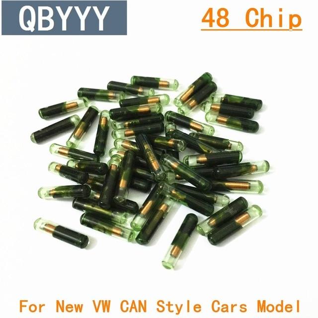 QBYYY Free shipping 50pcs/lot Wholesale tango ID48 auto transponder chip Tango Pro Copy ID 48 Car Key Chip 48 grass tube car key