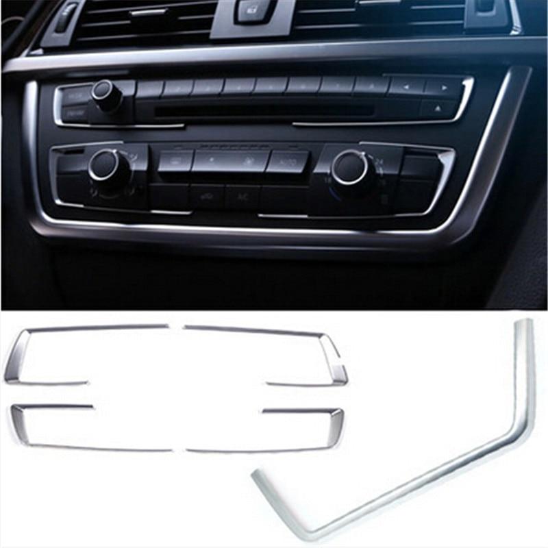 Cubierta decorativa de panel de control cromado con perla de coche Cotochsun para BMW 3 series F30 F35 3GT 316i 320li 328li 325li 335li