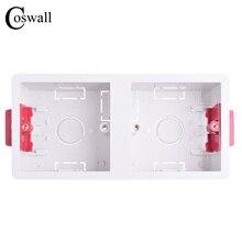 Coswall 86 Тип 2 банда сухая подкладка коробка для гипсокартона гипсокартон 35 мм Глубина настенная коробка переключателей настенная розетка кассета