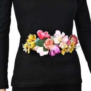 Wedding flower belt Handmade Flowers headband wedding sashes