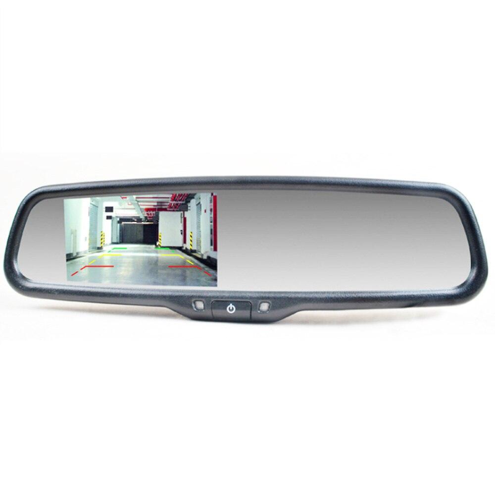مرآة وقوف السيارات مع دعم التركيب ، 4.3 بوصة ، مرآة خلفية مضادة للانزلاق لتويوتا كامري كورولا ، أصلية