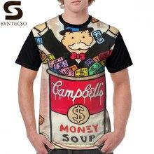 Monopolio Uomo T Shirt Monopoly Soldi Zuppa di T-Shirt 100 Per Cento Poliestere Uomini Graphic Tee Shirt Manica Corta Streetwear Tshirt