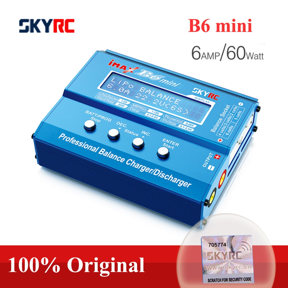 Original SKYRC IMAX B6 MINI Balance Charger Discharger For RC Helicopter Re-peak NiMH NiCD LiHV NiCd