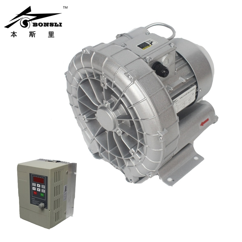 Side Channel Ring Blower 0.75kw vacuum pump air blower  Regenerative Blower and For Paper Cutting Machine exw 2rb230 7ah16 0 4kw 0 5kw mini pressure aquaculture air blower ring blower side channel vacuum pump compressor