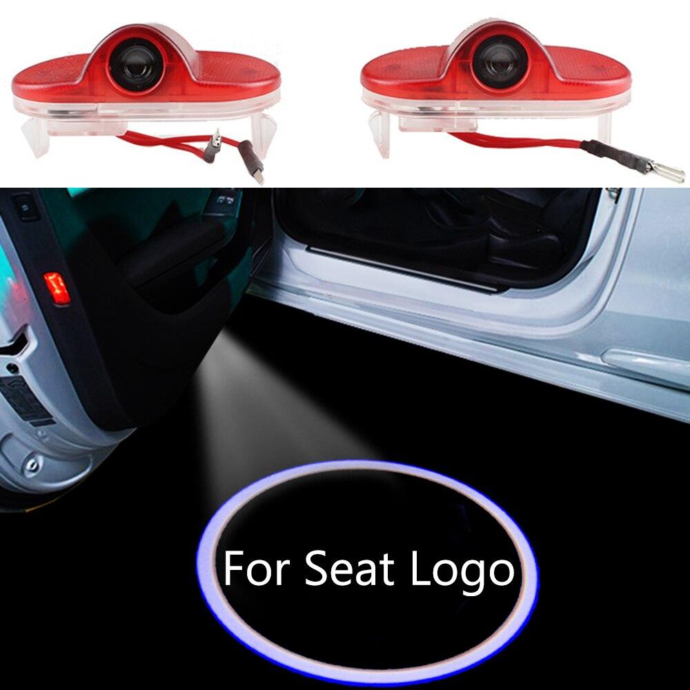 1-10 par para asiento Logo LED para coche puerta sombra el logotipo del proyector luz para Seat Leon MK1 Toledo MK2 accesorios Bienvenido cortesía lámpara
