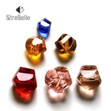 AAA6 livraison gratuite en gros AAA Grade cristal torsadé cube perles Multi couleur bijoux à bricoler soi-même perles