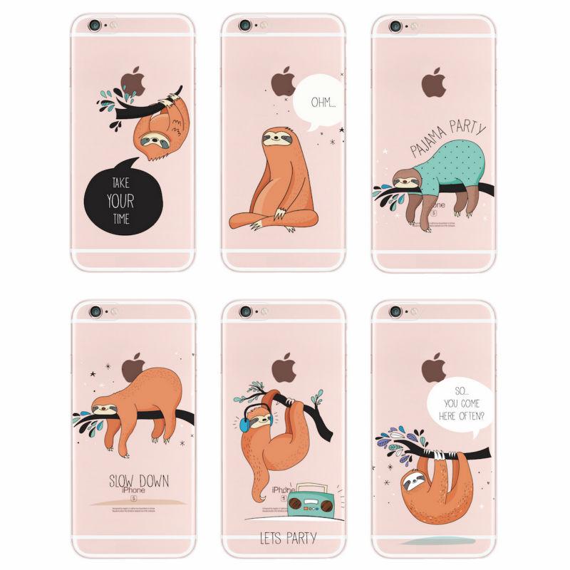 Мягкий силиконовый прозрачный чехол с принтом для телефона iPhone 11 Pro Max 6S 7Plus 7 8 8Plus X XS Max Loth Cute Animals