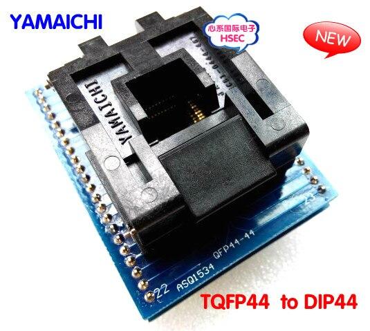 Envío Gratis 100% nuevo alta calidad TQFP44 a DIP44/LQFP44 a DIP44 adaptador de programador/Adaptador IC