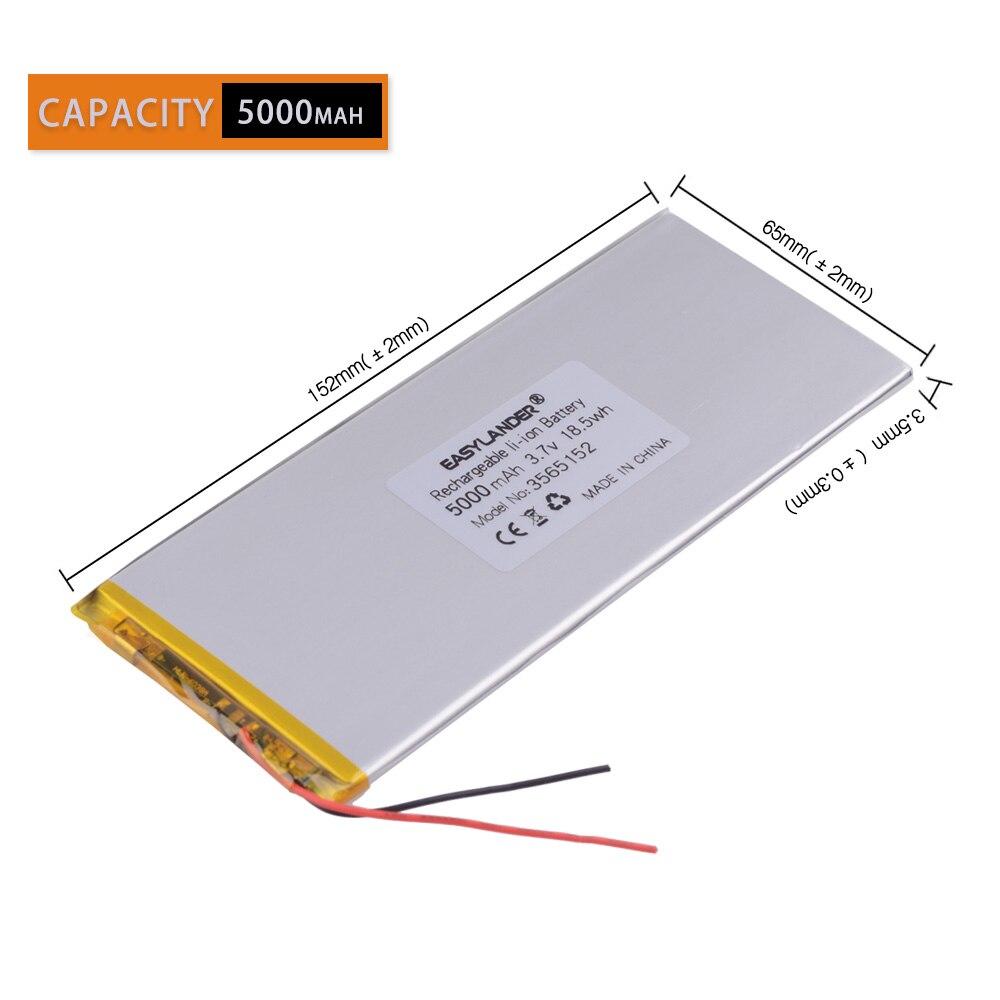 Литий-ионный аккумулятор 3 провода 3,7 В 5000 мАч 3565152 полимерный литий-ионный аккумулятор/литий-ионный аккумулятор для планшетного ПК POWER BANK pipo ...