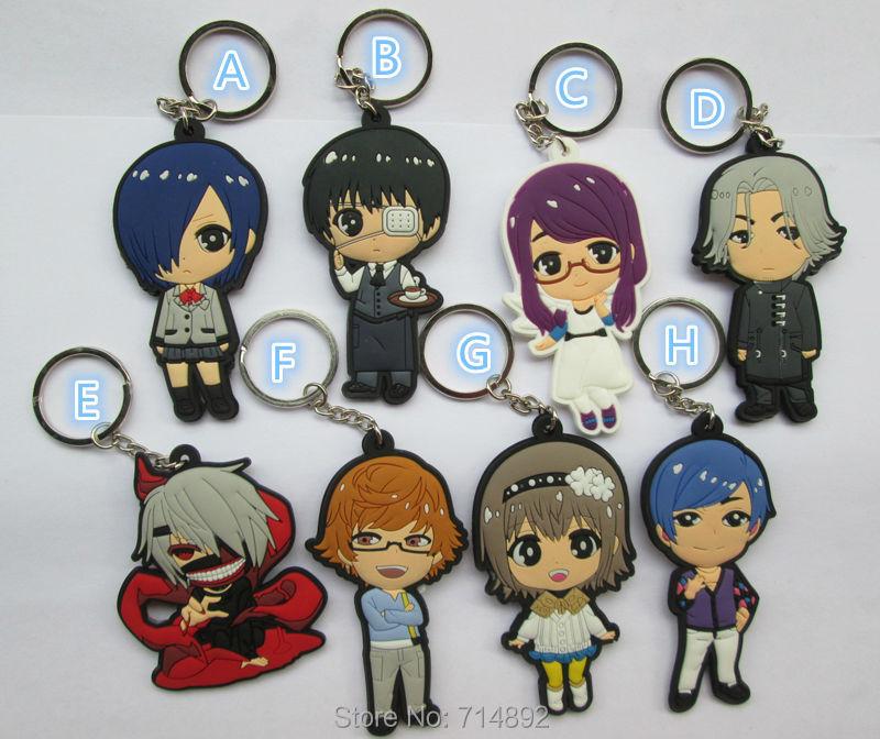 Wholesele 300pcs/500pcs Tokyo Ghoul figure PVC keychains Kaneki Ken pendants free by DHL