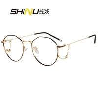 myopia glasses polarized sunglasses women computer eyeglasses prescription glasses for sight metal round optical frame women