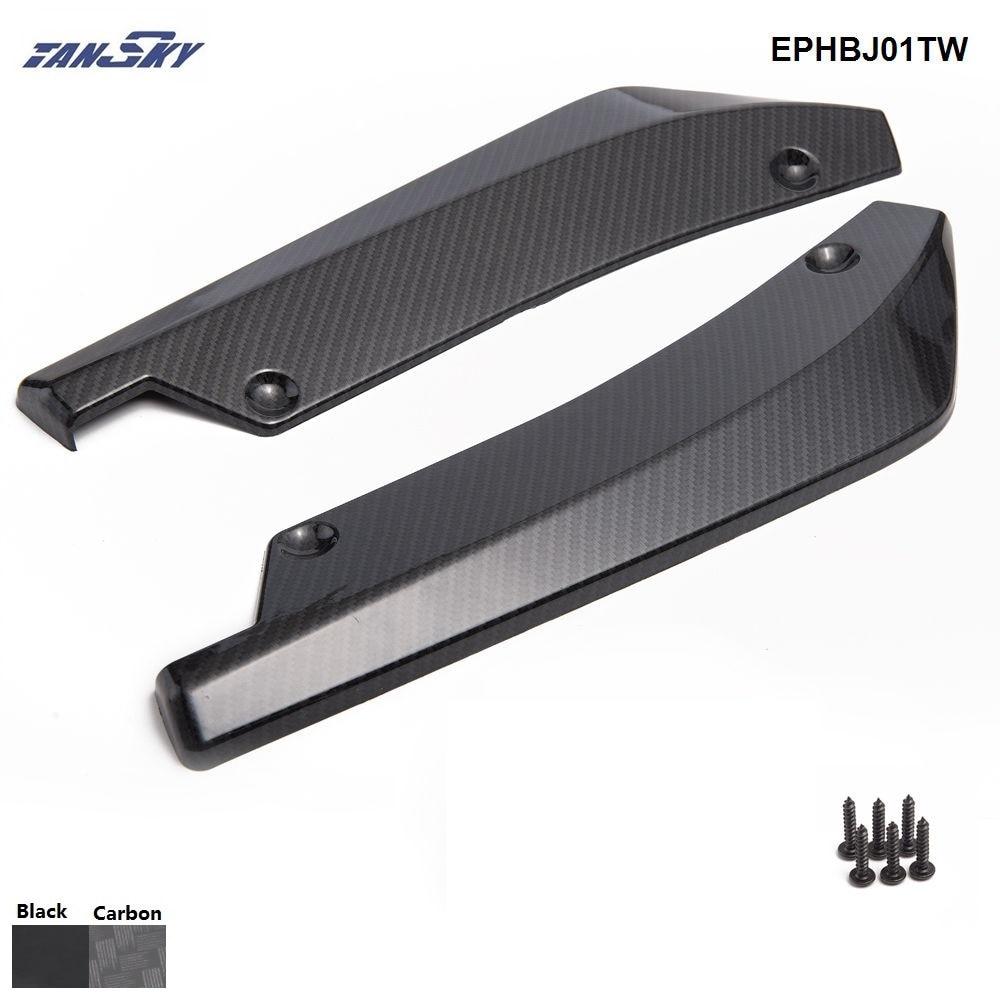 2 pçs/set universal amortecedor traseiro spoiler canards difusor do lado do carro fin risco proteger legal ephbj01