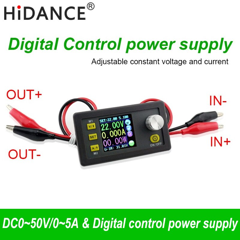 50V 5A 250W LCD convertidor medidor de tensión regulable regulador programable fuente de alimentación módulo voltímetro amperímetro probador de corriente