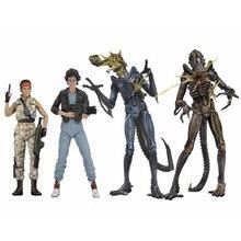 7 pouces 18cm NECA Aliens vs prédateur privé LT.Ellen Ripley blouson aviateur xénophe guerrier bataille endommagé figurine jouet