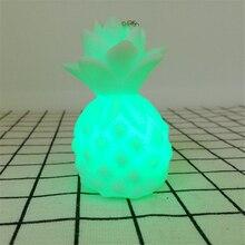 Fruits LED veilleuse drôle ananas Design lampe de Table cadeau créatif pour ami lumière ornements Table bureau lampe décor