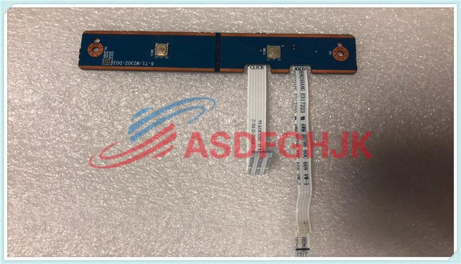 "Para Clevo Sager W230ST W230SS 13,3 ""Mouse Button Board w Cables 6-71-W2302-D03 totalmente"