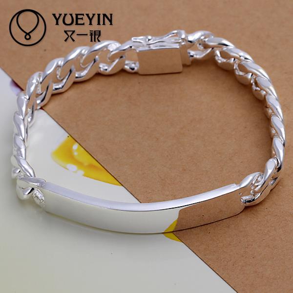 Torcida Singapore Cadeia De prata banhado a pulseira para as mulheres homens unisex jóias cadeia mão H181 elegante para o Presente