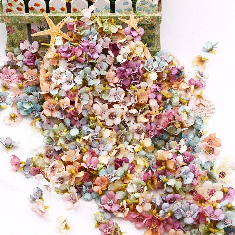 50/100 Uds Flor de Margarita Multicolor Mini flor Artificial de seda para la boda compromiso fiesta decoración del hogar DIY tocado guirnalda
