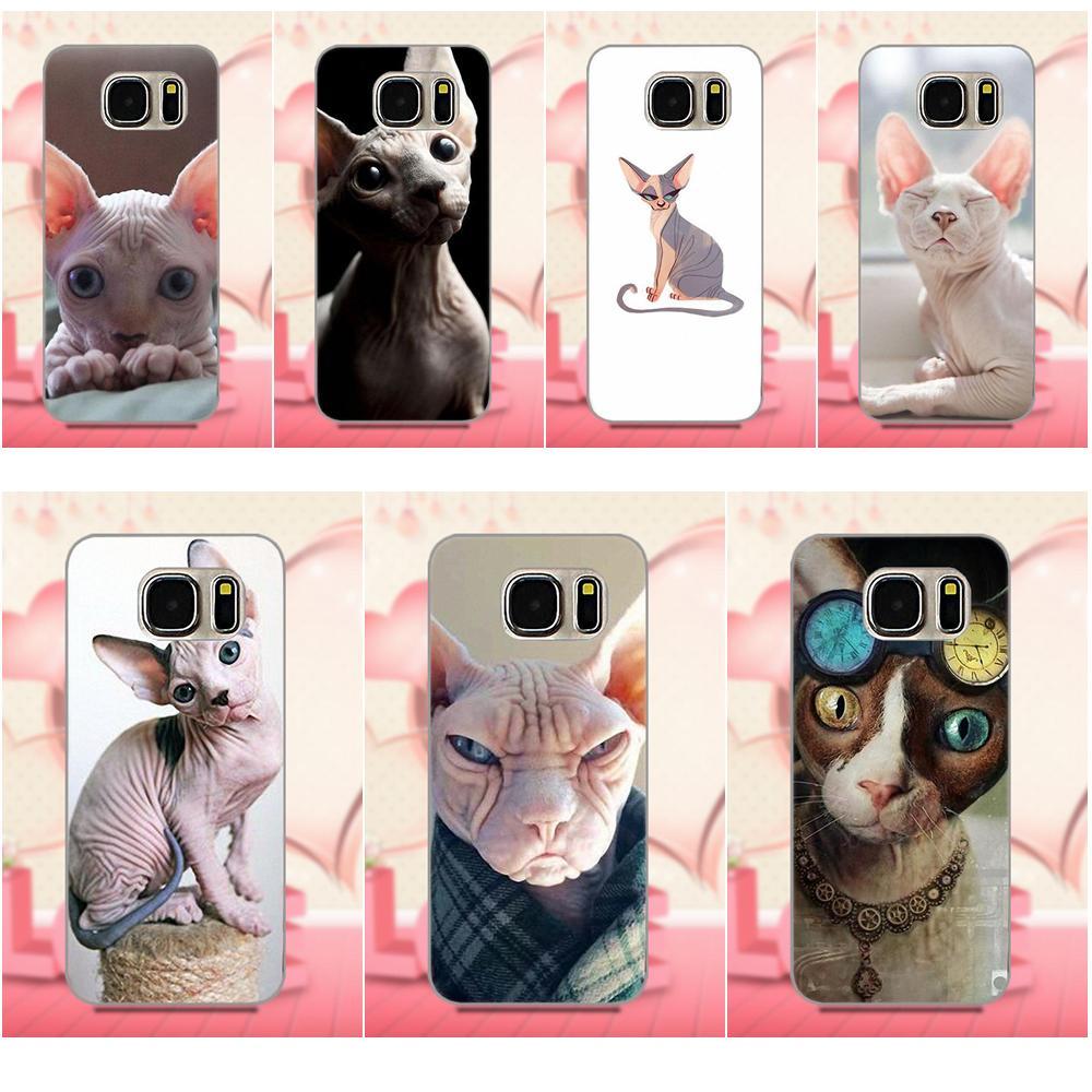 Oedmeb High Quality Sphynx Cat Kitty For Apple iPhone 4 4S 5 5C 5S SE 6 6S 7 8 Plus X For LG G3 G4 G5 G6 K4 K7 K8 K10 V10 V20