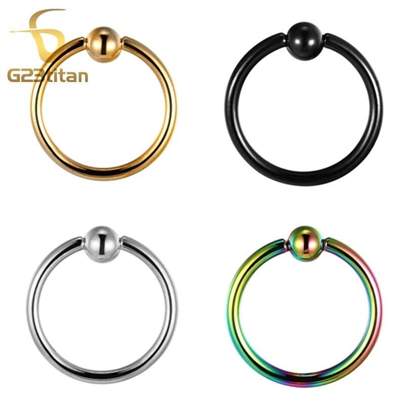 G23titan G23 кольцо для перегородки из титана, универсальный пирсинг для тела, ювелирные изделия
