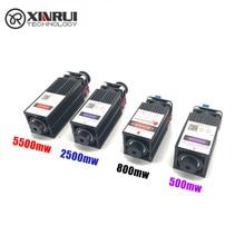 Gravure sur bois de module de laser pourpre bleu de mise au point de 500mw/800mw/2500mw/5500mw 405/450NM, diode + lunettes de tube de laser de contrôle de pwm TTL