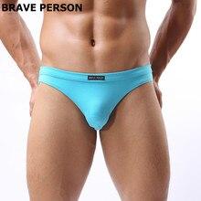 Hommes sous-vêtements marque Brave Person hommes slips de haute qualité hommes respirant confortable slips sous-vêtements en coton slips B1132