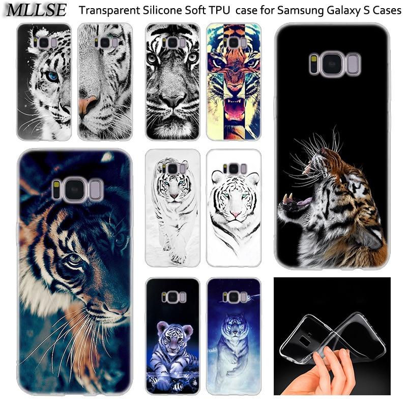 Funda de silicona suave Animal Tigre Cub para Samsung Galaxy Note 10 Plus 5 S8 S9 S10 Plus 5G s6 S7 borde S5 S10e de la cubierta a la moda de la