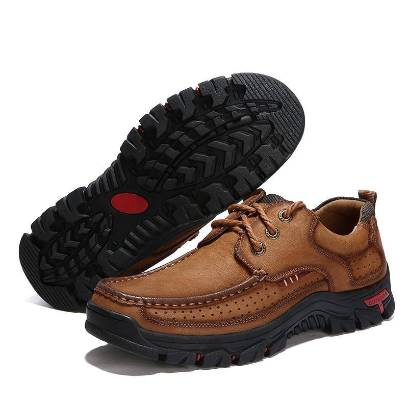 Mocassins étanches en cuir de vache pour homme, chaussures de haute qualité, décontractées, en cuir véritable, grande taille 38-48, nouvelle collection 2019