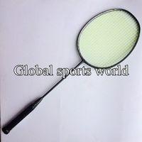 2 pc High quality N80 3D blade frame Badminton Racket 4U 82g Badminton Racquet Racket(Dark grey)