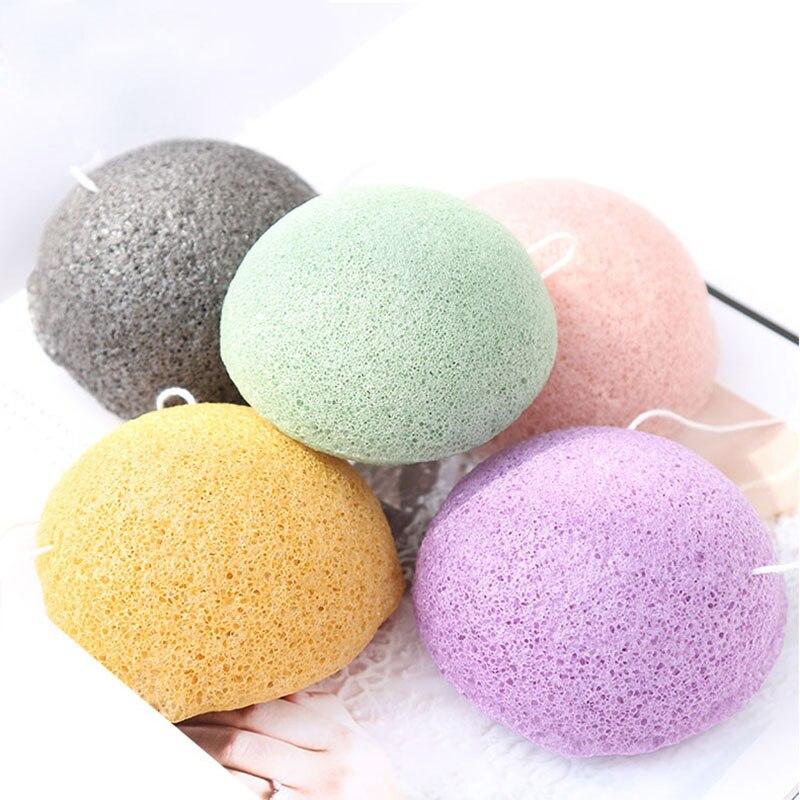 Esponja Konjac Natural SHINBAY para lavado de cara redonda konjac konnyaku, lote de esponja para limpieza Facial, exfoliador de baño, 100 Uds.
