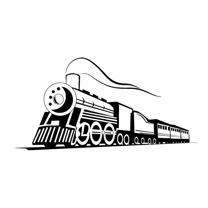 17,7 cm * 8,8 cm locomotora de tren Calcomanía para auto, motocicleta...