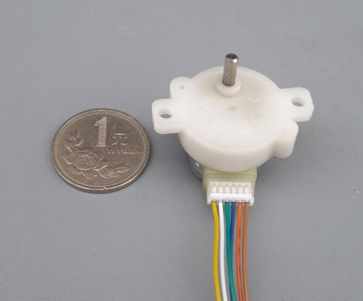 Diámetro japonés de 20mm ángulo de paso 18 grados Motor de pasos 12V caja de engranajes de metal relación de reducción 361