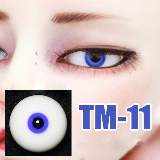 Ojos de muñeca Bjd pequeños iris, pupila negra, Ojos de seguridad de cristal azul para 1/3 1/4 1/6 BJD SD MSD YOSD Uncle TM-21, Envío Gratis