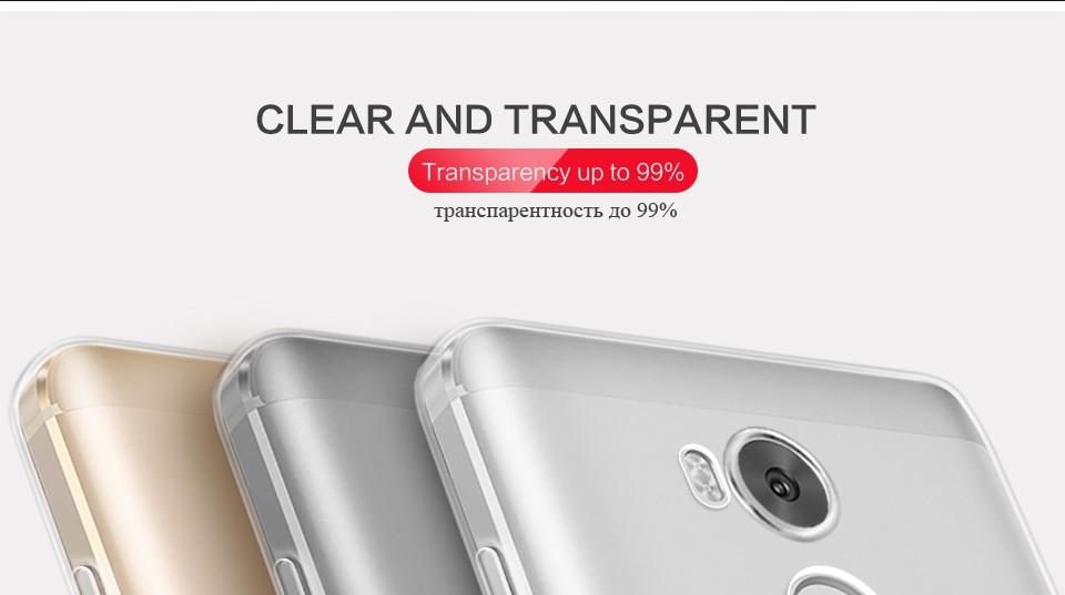 Pzoz xiaomi redmi 4 case silikonowy pokrowiec oryginalny xiaomi redmi 4 pro slim przejrzystą ochronę soft shell 4x redmi redmi 4A 5