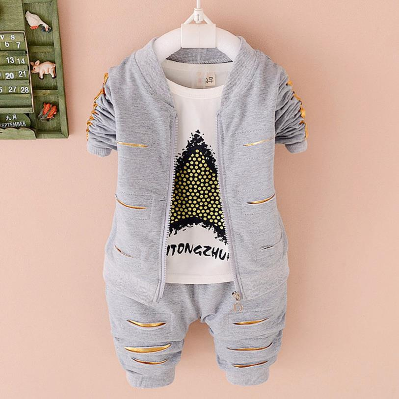 Meninos primavera outono conjuntos de roupas 3 peças da criança roupas algodão crianças agasalho esporte terno casuais 2 anos conjunto