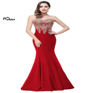 Dressing gown De Soiree 2019 Elegant  Dress with Appliqué Long Evening Dress For Official Events Evening Send Wirst Flowers