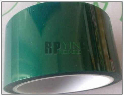 1x 100mm * 33 metros * 0.06mm Hi-Temperatura Resista Adesiva PET Verde Blindagem Fita para PCB revestimento de Solda, chapeamento/Mascaramento