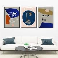 Affiches et imprimes minimalistes modernes pour visage  images dart murales  Style nordique  peinture sur toile pour salon  decor de maison