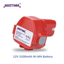 NASTIMA Upgrade 12v 3100mAh NIMH Replacement Battery for Makita 1220 PA12 1222 1233S 1233SA 1233SB 1235 1235A 1235B 192598-2