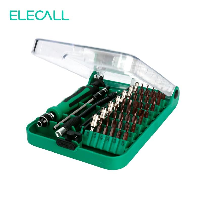 Набор многофункциональных отверток ELECALL 45 в 1, набор многофункциональных инструментов, отвертка Torx, инструменты для ремонта Iphone, ноутбуков, ...