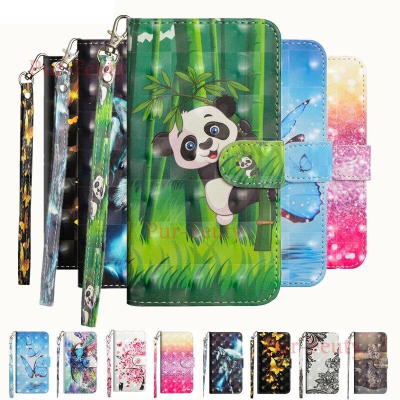 Funda para Xiaomi Redmi S2 RedmiS2 M1803E6G, funda para Xiaomi Redmi Y2 M1803E6H, funda con tapa 3D, patrón de Panda pintado funda de teléfono de cuero PU