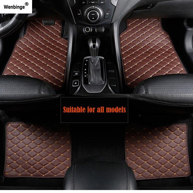 Alfombra de coche Wenbinge para MINI Cooper R50 R52 R53 R56 R57 R58 F55 F56 F57 Countryman R60 F60, accesorios de coche con estilo