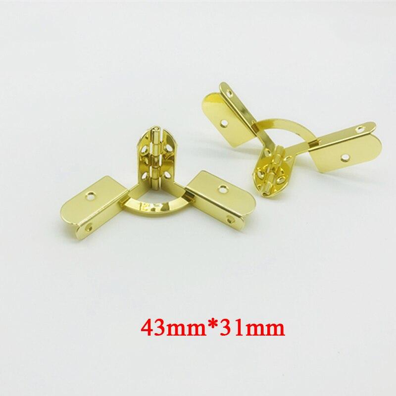 الجملة 500 قطعة 43 مللي متر * 31 مللي متر مفصلات المعادن رباعي مفصلات لتقوم بها بنفسك صندوق خشبي حالات Humidor مجوهرات مفصلات الأجهزة تركيبات