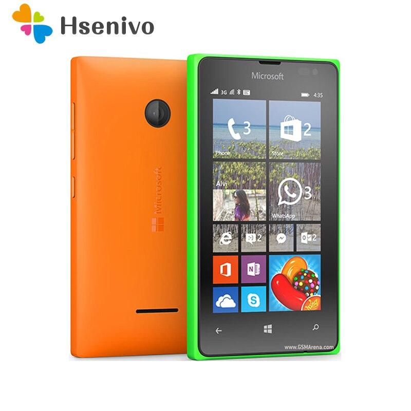 Nokia lumia 435 reformado-original Lumia 435 Dual-core 8GB ROM 1GB RAM teléfono...