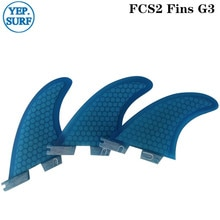 Surf Fins FCS2 G3  Blue Surfboard Honeycomb Fins Tri fin set fcs fin Fibreglass
