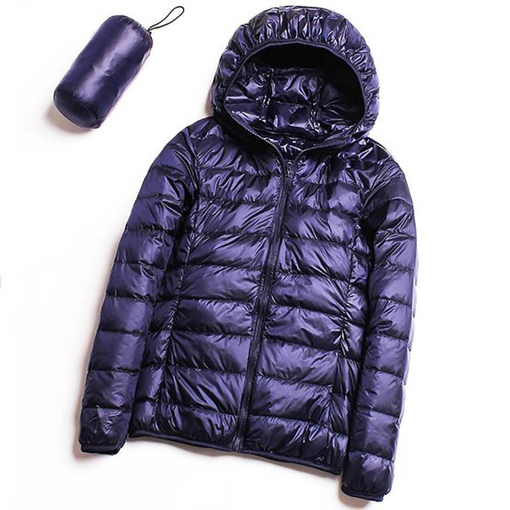 Autumn Winter Ultra Light Down Jacket Women White Duck Down Hooded Windproof Jackets Parka Female Casual Slim Portable Coats