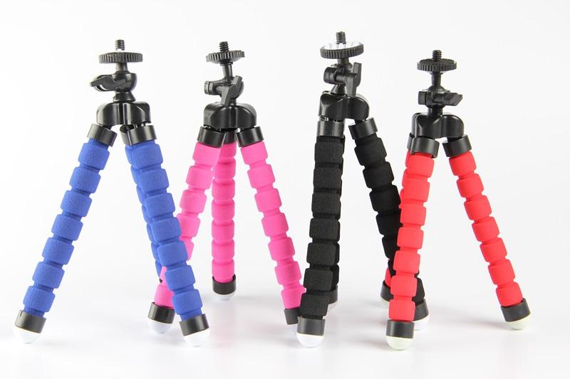 New Red Black Blue Flexible Mini Tripod Portable Octopus Stand Mount Bracket Holder Monopod For Mobile Phones Camera Camcorder