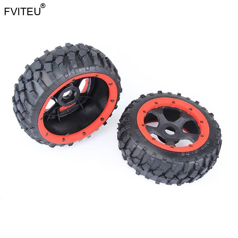 FVITEU Complete Rubber Front Gravel Wheel Tire kits for 1/5 HPI BAJA 5B Rovan King Motor
